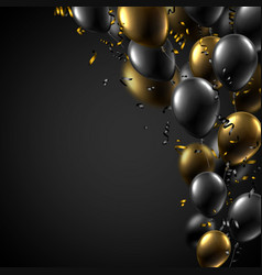 Festive background with black and gold shiny vector