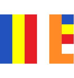 Flag buddhism buddha religion flag symbol vector