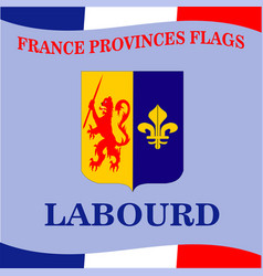 Flag french province labourd vector