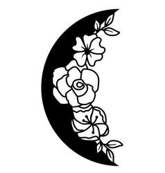 Floral moon vector
