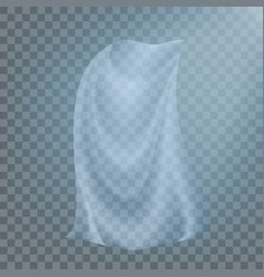 fluttering white cloth billowing clear vector image