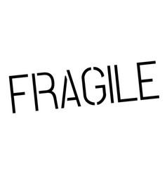 Fragile stamp on white vector