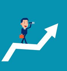 Future development plan walk up step with arrow vector