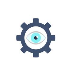 Gear eye symbol icon vector
