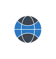 globe flat related glyph icon vector image