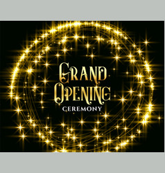 golden glitering sparkles grand opening vector image
