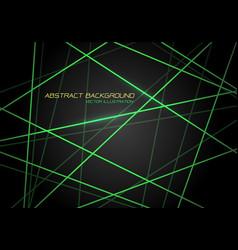 green line light laser cross overlap on dark grey vector image