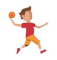 Handball player with ball avatar vector