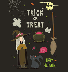 happy halloween background card for your design vector image