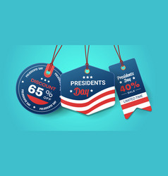 Happy presidents day holiday sale concept american vector