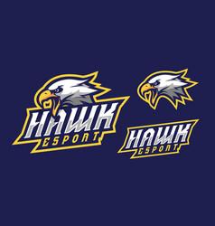 Hawk mascot logo design vector