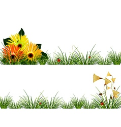 Headers with flowers vector