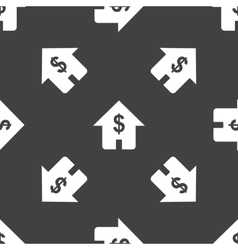 House with dollar sign pattern vector image