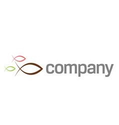 ichthus symbol logo vector image vector image