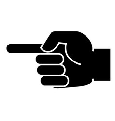 Icon of the hand that points with a finger vector