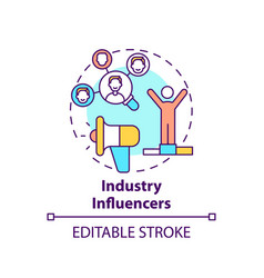 Industry influencers concept icon vector