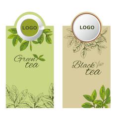 label tea1eps vector image