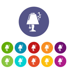 lamp icons set color vector image