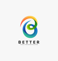 Logo abstract letter gradient colorful style vector