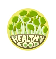 Logo Healthy Food sprouts vector