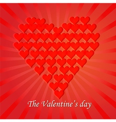 Love You Valentine Day Greeting card vector