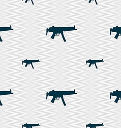 Machine gun icon sign Seamless pattern with vector