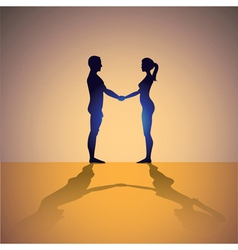 Man and woman vector image