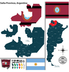 Map of salta province argentina vector