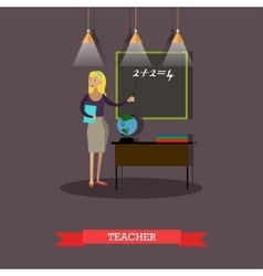 mathematics teacher in flat vector image