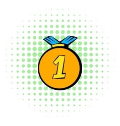 Medal icon comics style vector image