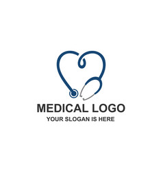 medical healthcare stethoscope cross logo vector image