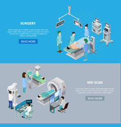 medical scanning equipment banners vector image
