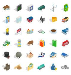 money icons set isometric style vector image