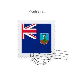 Montserrat flag postage stamp vector