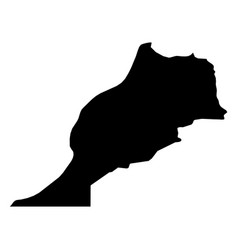 morocco - solid black silhouette map of country vector image