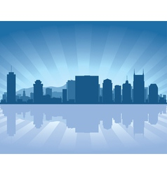 Nashville tennessee skyline vector