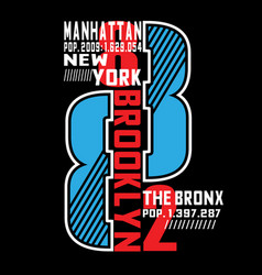 New york real cartoon t shirt design vector
