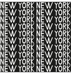 New York typography seamless background pattern vector