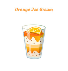 Orange ice cream vector