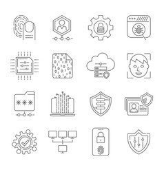 personal data protection icons secure account vector image