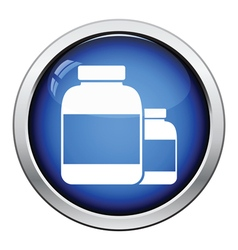 Pills container icon vector image