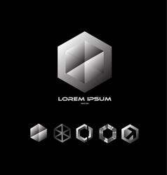 Polygon hexagon logo vector