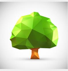 Polygonal origami tree vector