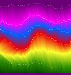 rainbow energy abstract background vector image