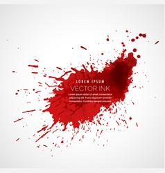 red ink splatter vector image