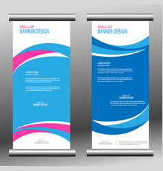 roll up banner 021 vector image