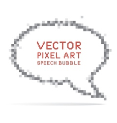round speech bubble in pixel art style vector image