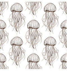 Seamless pattern from outline drawings of large vector