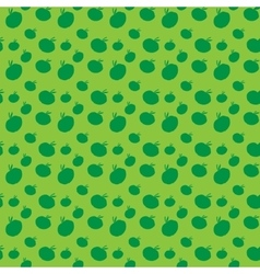 Seamless pattern of colorful apples vector image