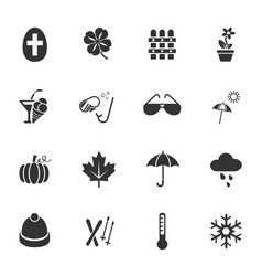 seasons icon set vector image